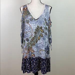 🌸Umgee cold shoulder floral dress sz small NWT